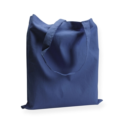 Sac coton 38x42cm Bleu foncé