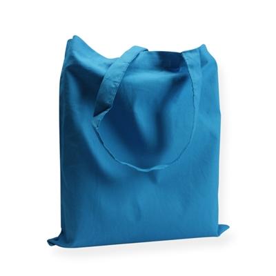 Katoenen draagtas 38x42cm blauw