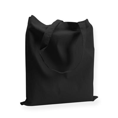 Katoenen draagtas zwart 38x42cm