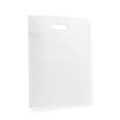 Non Woven draagtas 30x40cm wit uitgestanst handvat