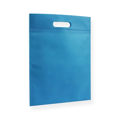 Non Woven draagtas 30x40cm blauw uitgestanst handvat