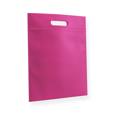 Non Woven carrier bags 30x40cm pink