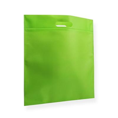 Non Woven draagtas 40x45cm groen uitgestanst handvat