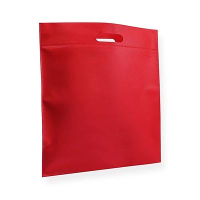 Non Woven draagtas 40x45cm rood uitgestanst handvat