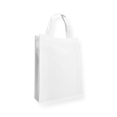 Non Woven draagtas wit 31+10x41cm met hengsels