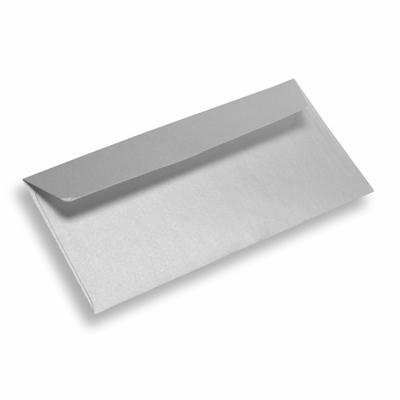 Papieren envelop Din Long star silver