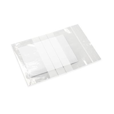Druckverschlussbeutel mit Schreibflache und Seitenfach 160 x 230 + 150