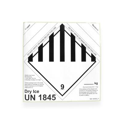 Label droogijs UN 1845