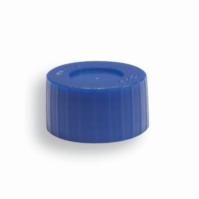 Biopost schroefdop blauw