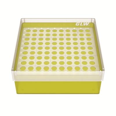 Storage box voor 100 buizen, geel, b63y