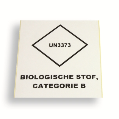 Label UN3373 Logo 99 x 110 ondoorzichtig wit