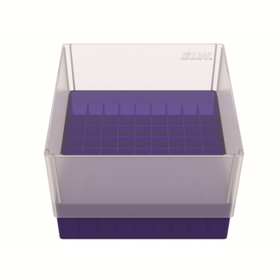 Storage box voor 81 buizen, blauw, b99b