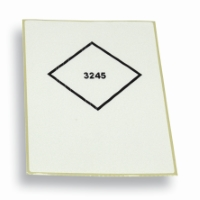 Label UN3245 White