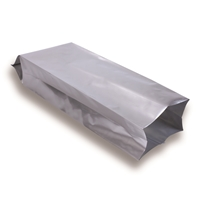 Side Gusset Bag 130 mm x 380 mm Silver