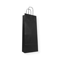 Paper Wine bag 150 mm x 400 mm Zwart
