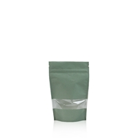 Lamizip Kraft Paper Stand Up Pouches with window 3.74 inch x 5.91 inch Green
