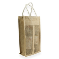 Jute wine Carrier Bag 350 mm x 200 mm Brown