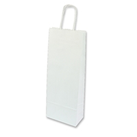 Paper Wine bag 150 mm x 400 mm White