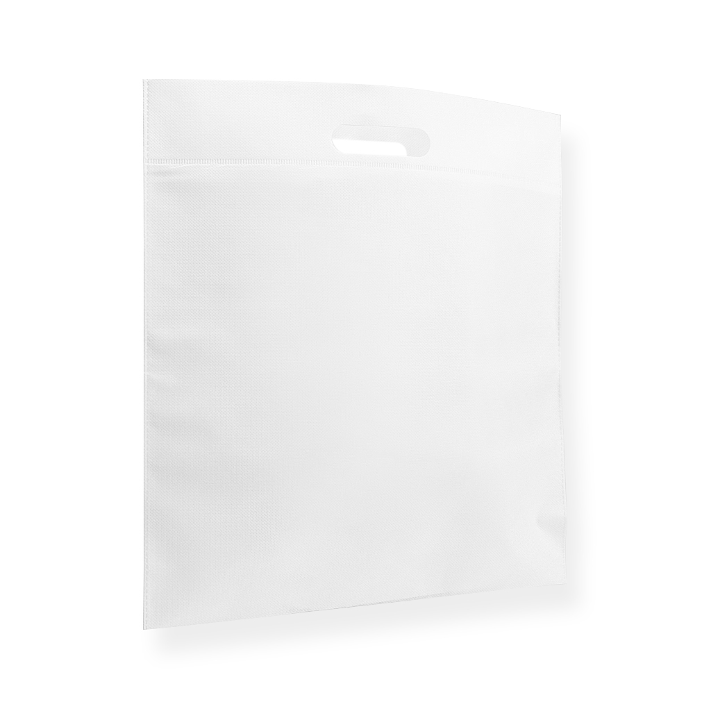Non Woven draagtas 400 mm x 450 mm Wit