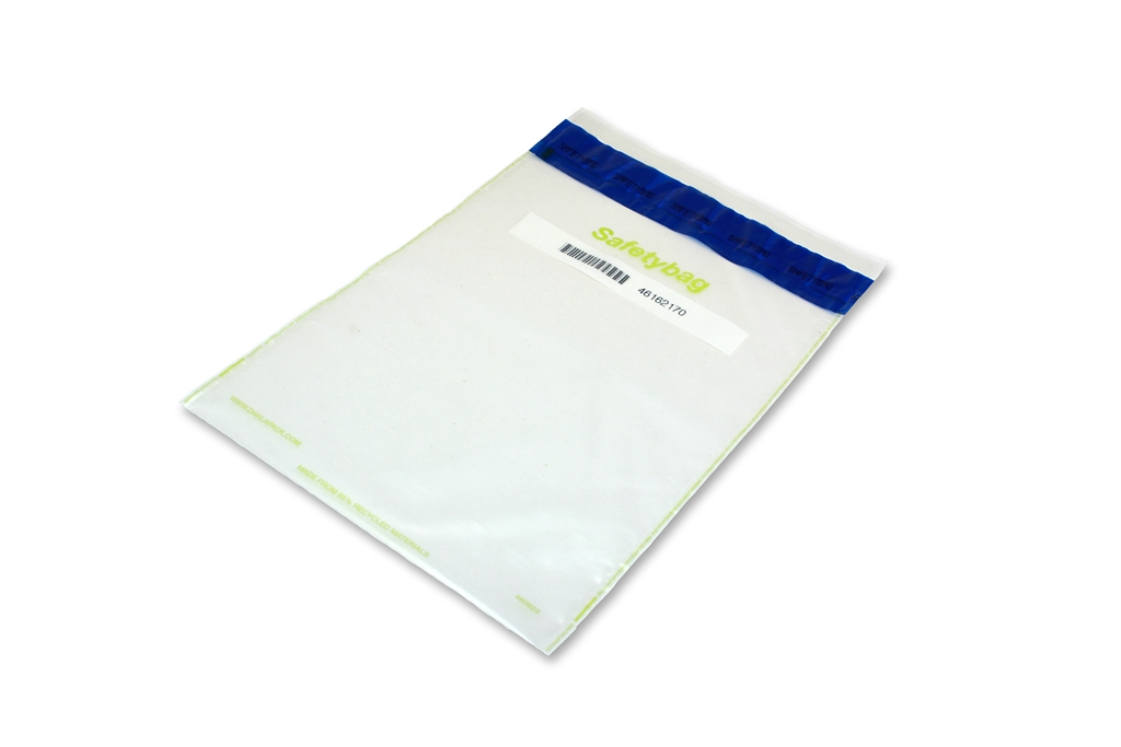 Safetybag Recycled 255 mm x 390 mm Transparent