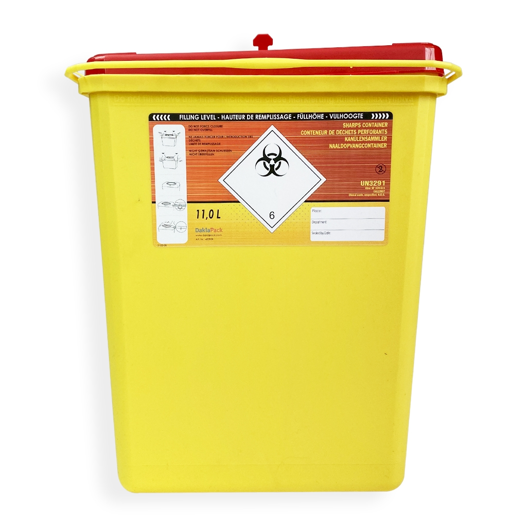 Daklapack-Safebox Needlecontainer Prime 11 ltr. Yellow