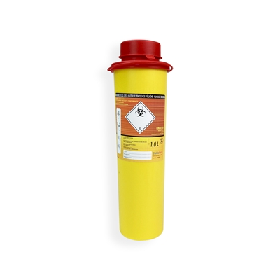 Daklapack-Safebox Needlecontainer MINI 1 ltr. Yellow